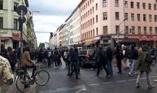 Manifestanţi de 1 mai la Berlin