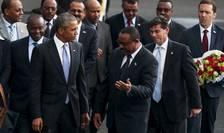 Barack Obama alături de prim-ministrul ethiopian Hailemariam Desalegn