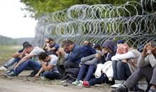 Septembrie 2015: sîrma ghimpata la frontiera Ungariei