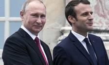 Vladimir Putin si Emmanuel Macron cu un an în urma, pe 29 de mai 2017, la Paris