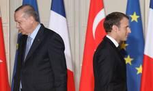 Recep Tayyip Erdogan si Emmanuel Macron