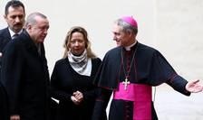 Presedintele turc Recep Tayyip Erdogan primit de arhiepiscopul Georg Gänswein la Vatican, luni 5 februarie 2018