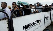 Venezueleni în tranzit spre Columbia, februarie 2018