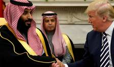 Mohamed Ben Salman şi preşedintele Donald Trump pe data de 20 martie la Washington