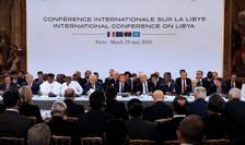 Protagonistii crizei libiene reuniti la Palatul Elysée, 29 mai 2018.