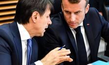 Seful guvernului italian Giuseppe Conte si presedintele francez Emmanuel Macron, Bruxelles, 24 iunie 2018.
