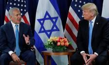 Benjamin Netanyahu şi Donald Trump în contextul unei precedente reuniuni, în 2018