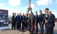 """Toti chefii participanti la operatiunea """"Tous au restaurant"""" reuniti pe acoperisul muzeului de pe quai Branly, 1 octombrie 2018"""