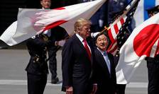 Preşedintele american Donald Trump şi împăratul Japoniei, Naruhito, 27 mai 2019, Tokyo