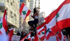 Manifestaţie la Beirut pe 20 octombrie 2019