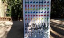 Afisul editiei 2019 a Festivalului international de pian de la Roque d'Anthéron