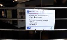 Acest afis era prezent pe 13 septembrie 2019 la intrarea statiilor de metrou din Paris