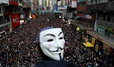 Manifestation à Hong Kong, le 8 décembre 2019. © REUTERS/Danish Siddiqui