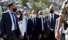 Emmanuel Macron la Beirut unde a plantat în mod simbolic un cedru, 1 septembrie 2020.