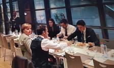 Merkel, Macron, Wilmes, Conte la cantina
