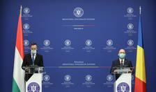 Péter Szijjártó şi Bogdan Aurescu la conferinţa de presă comună la sediul ministerului Afacerilor Externe