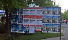 Panou electoral in Chisinau