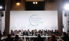 Preşedintele Emmanuel Macron luînd cuvîntul pe 10 ianuarie 2020 în faţa Convenţiei cetăţeneşti pentru climat