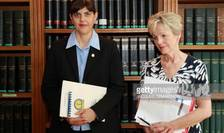 Laura Codruţa Kövesi, procurorul şef al DNA-ului și șefa Parchetului Național Financiar din Franţa, doamna Eliane Houlette.