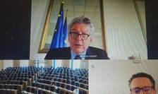 Sedinta comisie Tran videoconf Breton
