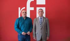 Jurnalistul Ovidiu Nahoi și generalul în rezervă Constantin Degeratu la radio RFI Romania