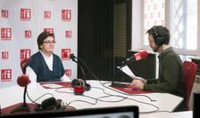Cosmin Ruscior și Lavinia Andrei in studioul de emiosie RFI