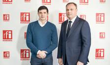 Sorin MITITELU şi Mihai CRĂCEA in studioul RFI Romania
