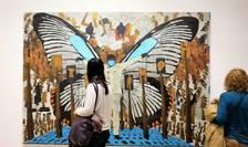 Lucrare a artistului senegalez Omar Ba expusă la FIAC 2021.