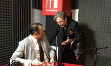 Andrei Țărnea și Nicolas Don in studioul RFI Romania