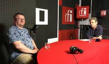 Armand Goșu și Nicolas Don in studioul RFI Romania