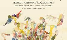 Afiș Expoziţia de grafică Litere și personaje - Georgeta Năpăruș