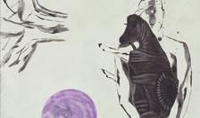 Afiș Expoziția de gravură Visul Pământului, artista japoneză Noriko Yanagisawa, MNAR 2017