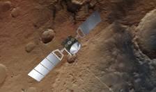 Sonda Mars Express, deasupra planetei Marte-ilustraţie artistică (Sursa foto: ESA/AFP)
