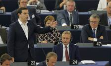 Premierul grec, Alexis Tsipras, în plenul PE, la Strasbourg (Foto: Reuters/Vincent Kessler)
