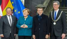 Angela Merkel şi Emmanuel Macron la Aachen (Aix-la-Chapelle), 22 ianuarie 2019