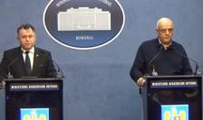 Nelu Tătaru și Raed Arafat anunță alte două cazuri de coronavirus în România (Foto: captură video/gov.ro)