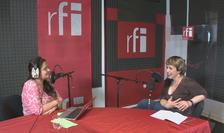 Ana-Maria Caia și Ana Barton în studioul RFI România