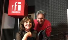 Nicolas Don și Ana Blandiana in studioul RFI