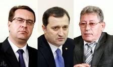Liderul PD, Marian Lupu, cel al PLDM, Vlad Filat şi şeful PL, Mihai Ghimpu