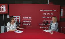 Andreea Orosz și Vivianda Nicolae in studioul RFI Romania