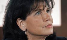Anne Sinclair, 23 ianuarie 2012, la sediul ziarului Le Monde din Paris.