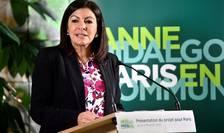 Anne Hidalgo, primàrita socialistà a Parisului, în timpul campaniei electorale pentru localele din martie