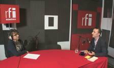 Dan Pârvu și Eugen Ciurtin in studioul radio RFI Romania