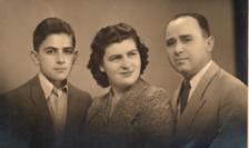 Jean Askenasy cu părinții săi la Craiova în 1944