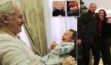 Julian Assange, logodnica sa și cei doi fii ai lor