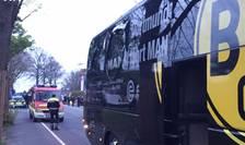 Autocarul avariat al echipei Borussia Dortmund (Foto: AFP)