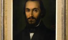 """Nicolae Bălcescu portretizat de Gheorghe Tăttărescu. Tabloul este expus la Muzeul Memorial """"Nicolae Bălcescu""""."""