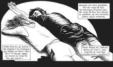 """O plansà din albumul """"Mon Bataclan"""" al desenatorului Fred Dewilde, supravietuitor al atacului din 13 noiembrie 2015"""