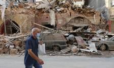 Scene apocaliptice la Beirut dupà dubla explozie de marti, 4 august. Aici, o zonà din port, în dimineata de 5 august 2020.