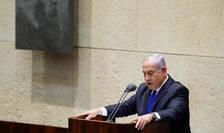 Premierul israelian Beniamin Netaniahu, în fata parlamentului (Knesset), 17 mai 2020